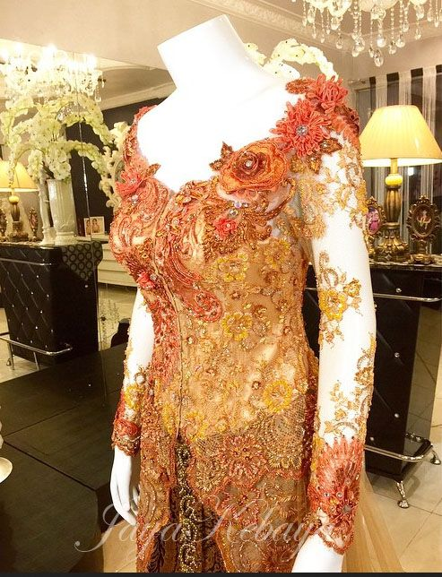 wedding dress kebaya modern cendrawasih 2016