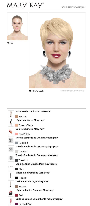 Acabo de crear un cambio de look GRATIS con el Maquillaje Virtual Mary Kay®. ¡Pruébalo tú misma y compártelo con todos tus amigos!  www.marykay.es/lydiarodriguez