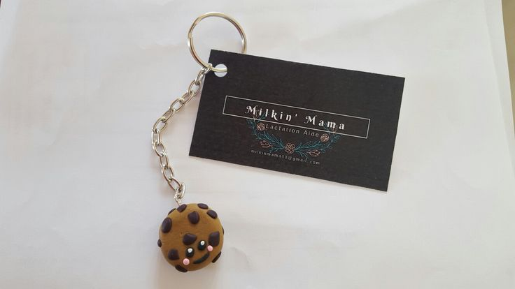 Made a cookie keyring for my client Milkin Mama.     #polymerclay #polymer #polymerclayart #clay #uniquegifts #handmade #charms #clayologie #clayologieclay #milkinmama