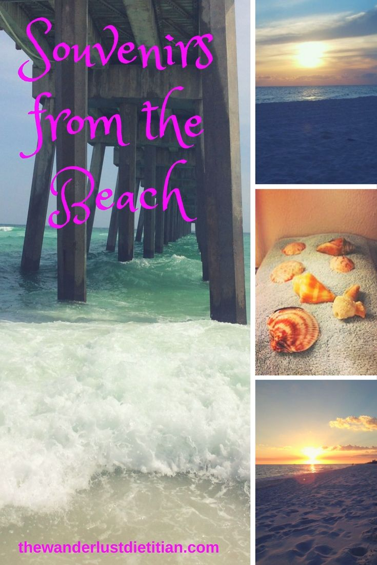 Summer means a vacation to the beach! I have put together some ideas of souvenirs from the beach to bring home with you.