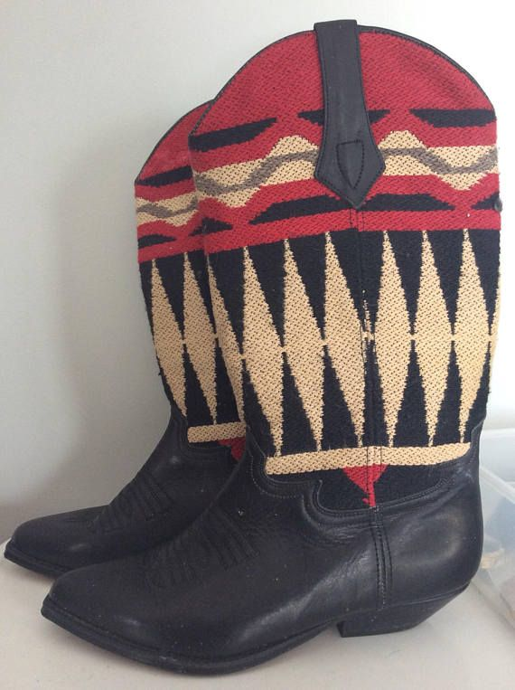 VIntage Cowboy Boots Mexico Southwestern look size 7