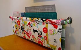 Ruler and small mat hanging wall sling: Handmade Craft Room Storage Tutorial