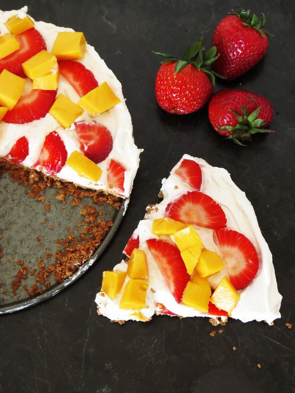 Healthy Greek yogurt & fruit dessert that you can eat without any regrets.