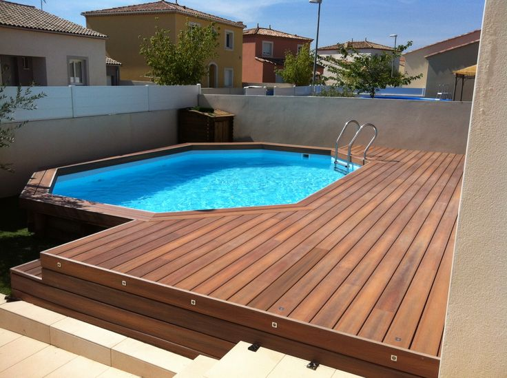 78 best ideas about terrasse composite on pinterest for Piscine hors sol composite gris