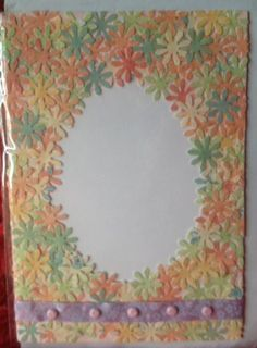 Flower frame for your picture in the card