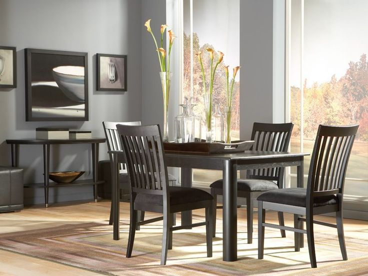 The Eclipse Rectangle Dining Room Offers A Classic Look For Contemporary Spaces CORT Rents Furniture You Love Living In