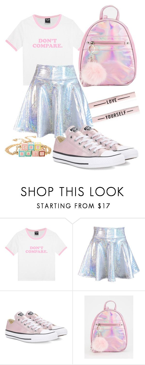 """""""💕💕"""" by awkwardnath on Polyvore featuring Converse and Hot Topic"""