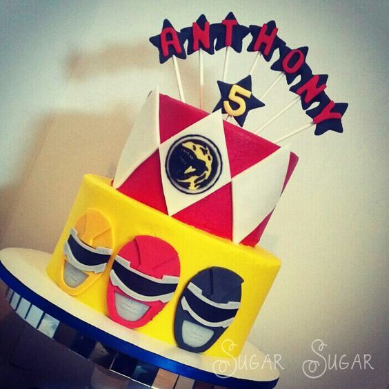 power ranger birthday cake | Power Rangers themed birthday cake — Children's Birthday Cakes:
