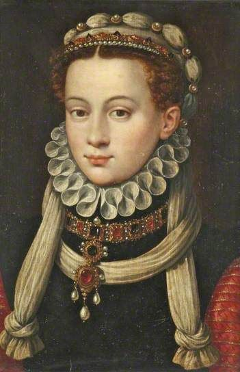 Anne Van Buren (1533–1558)  by Antonis Mor  (after)    Date painted: after 1555  Oil on panel, 48.5 x 35.5 cm  Collection: National Museums Liverpool, Walker Art Gallery