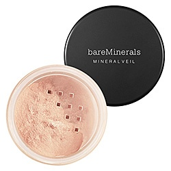 Bare Minerals Mineral Veil...Put on after you've applied your other make-up. Just a smooth look...a finishing touch.