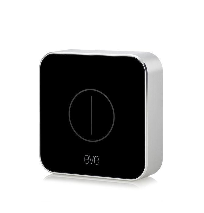 """Top SmartHome Remote: •• Elgato's """"Eve Button""""•• 2018-01 CES • pre-order $50 •slogan """"Button up your favorite devices."""" • tap / talk / swipe remote for Lamps etc. • set lighting scenes via eve app + HomeKit / Siri / iPhone / iPad / AppleWatch / AppleTV • size: 2.1 x 2.1 x 0.5"""""""