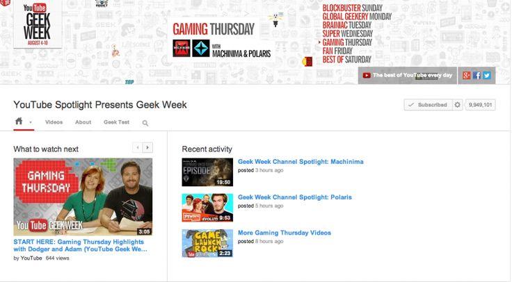 YouTube está aprovechando la semana Geek que celebra en su plataforma con los videos referentes a elementos de esa cultura para permitir que las personas interactúen en el sitio con diversos comandos.