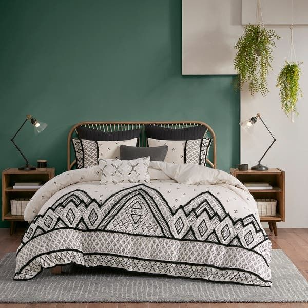 Ink Ivy Marta Cotton Comforter Set, Can I Use A King Duvet On Queen Bed