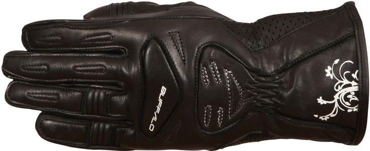 Buffalo Bella Ladies Leather Motorbike Gloves - LadyBiker.co.uk