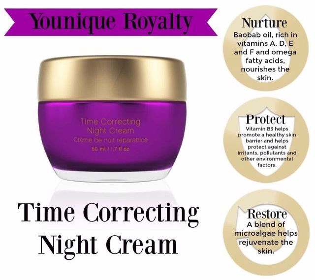 Younique time correcting night cream.