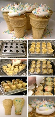 Cake cone!  Easy How to