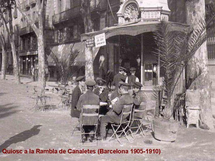 Quiosc a la Rambla de Canaletes (Barcelona 1905-1910)