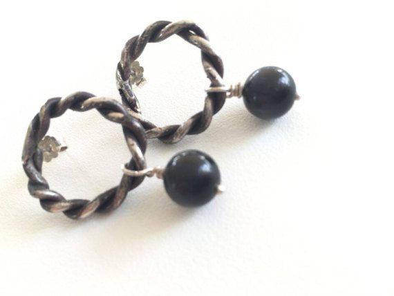 Earrings Sterling silver hoop earrings Jewelry earrings