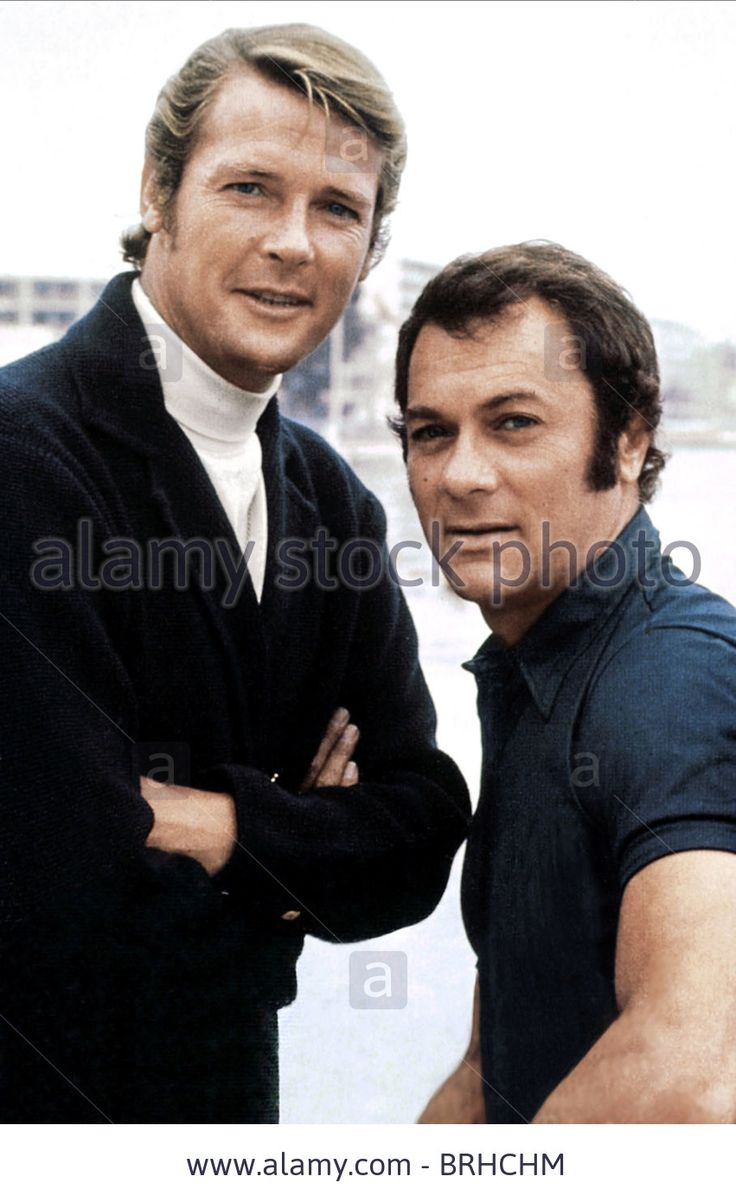 ROGER MOORE & TONY CURTIS THE PERSUADERS (1971) - BRHCHM from Alamy's library.