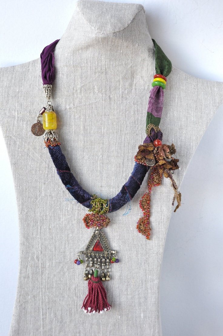 Love this! Wonderful composition! necklace by Hobilium, via Etsy.