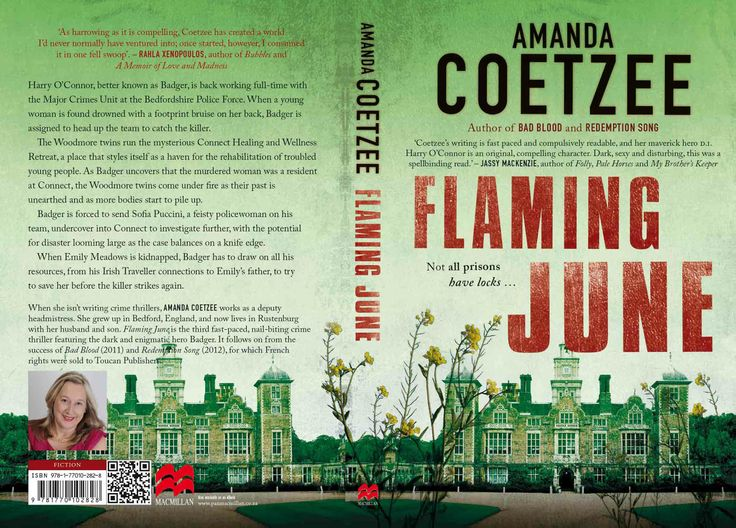Flaming June by Amanda Coetzee, South African crime writer