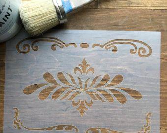 Scrolls Stencil, Franse Scroll Stencil, Scroll Decal, kunst aan de muur, schuif schuif Craft muur Stencil Stencil meubilair Stencil, slaapkamer kunst