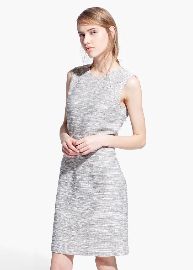 Meliertes Kleid aus Baumwoll-Mix