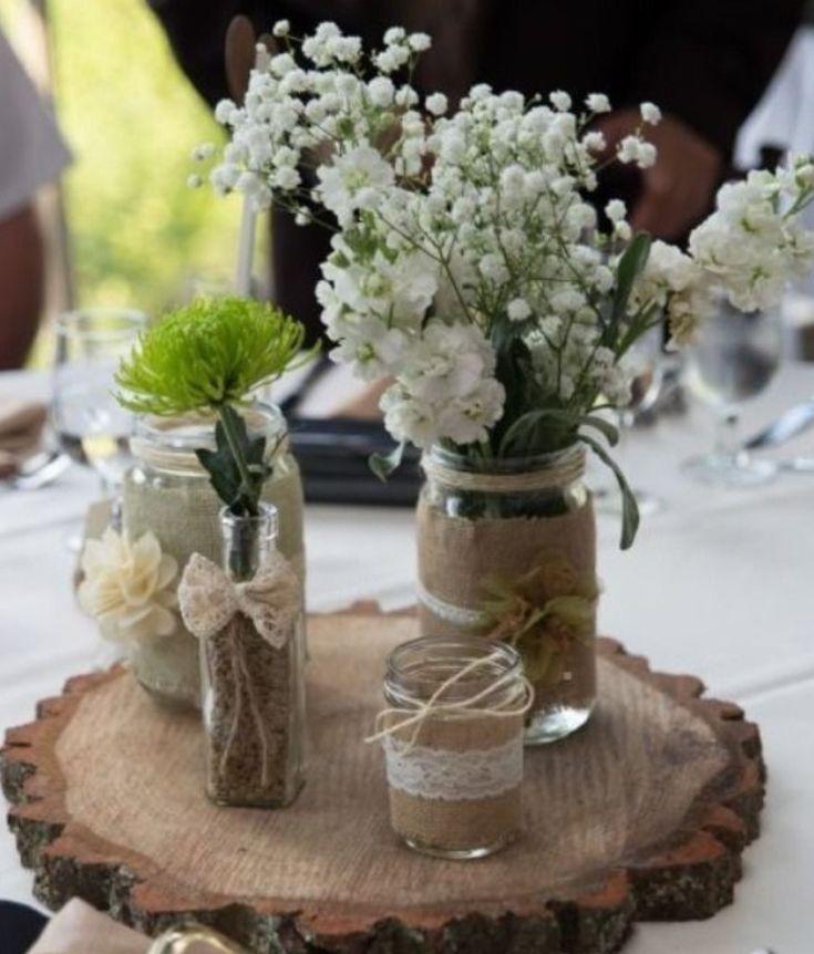 centro de mesa casamiento 15 años rustico vintage