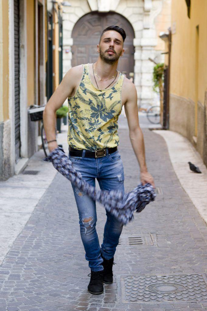 Street style beard men #menstyle #streetstyle #men #beard #summer #cool