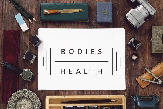 Bodybuilding Logo Fitness Logo Healt Logo  Instant by Logones