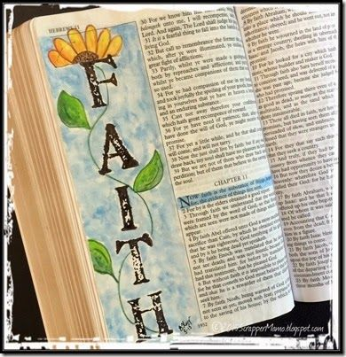 Bible Art Journaling ...draw in margins and empty spaces...neat idea...