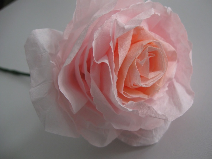 "Coffee filter roses.. bookmarked under ""crafts""."