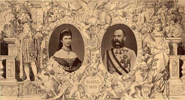 Le 24 Avril 1879, Elisabeth et François-Joseph fêtaient leurs Noces d'Argent, c'est à dire 25 ans de Mariage .