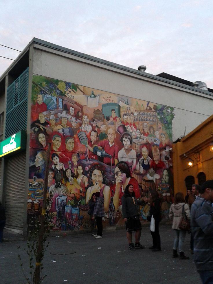 Mural de La Piojera (Santiago Centro).
