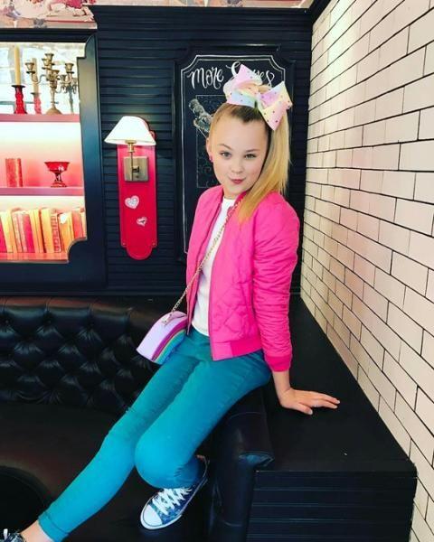 | Jojo Siwa | Schott NYC | Pink | Bomber | Celebrity