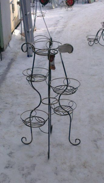 Planter. Wrought Iron Plant Stand for 5 pots by GoodThingsShop