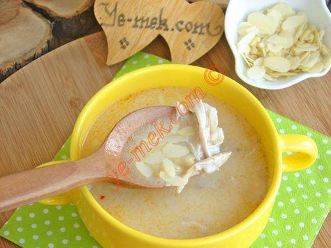 Bademli Tavuk Çorbası Resimli Tarifi - Yemek Tarifleri