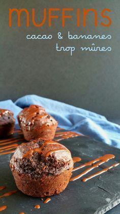 Muffins super faciles au cacao et aux bananes trop mûres