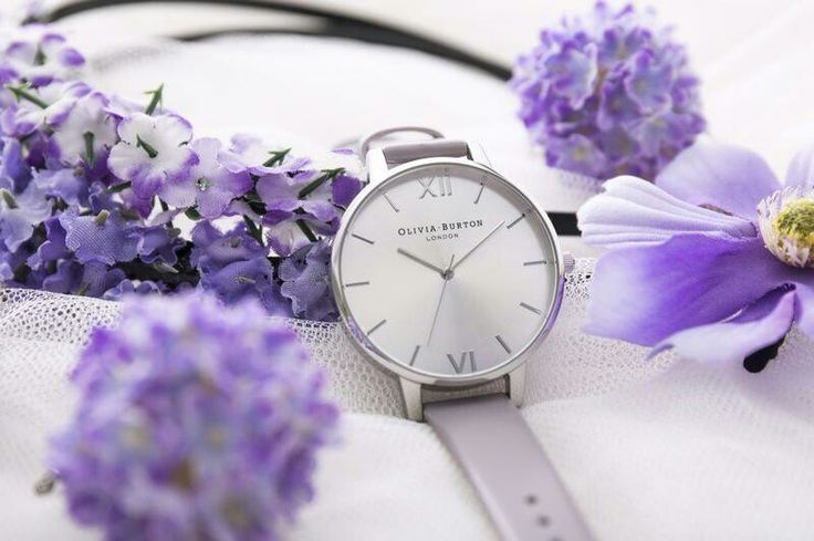 Lilac and silver face Olivia Burton watch - we are in love with this