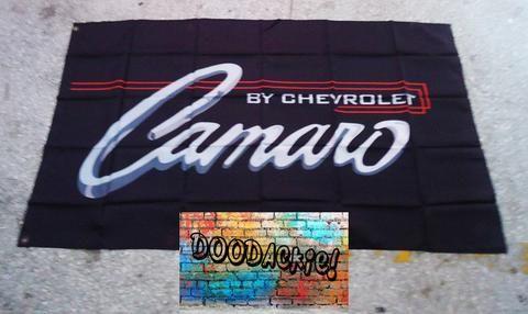 Chevrolet Camaro Banner Flag - Black