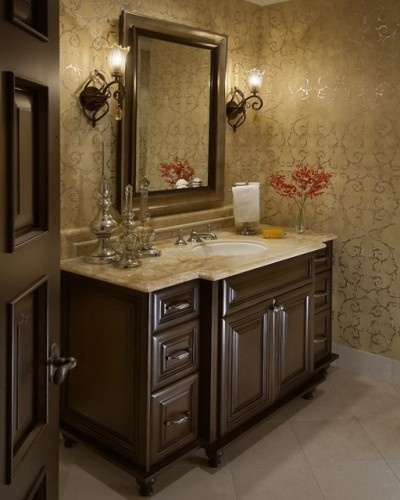 Powder room design ideas pinterest powder pottery barn colors and vanities for Pottery barn bathroom paint colors