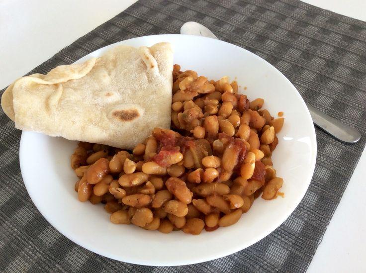 Pečené fazole s tortillami