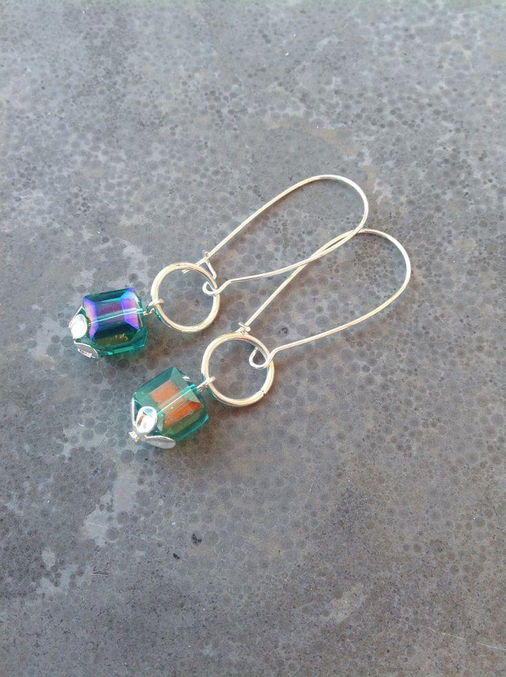 Smaragdgroene oorbellen
