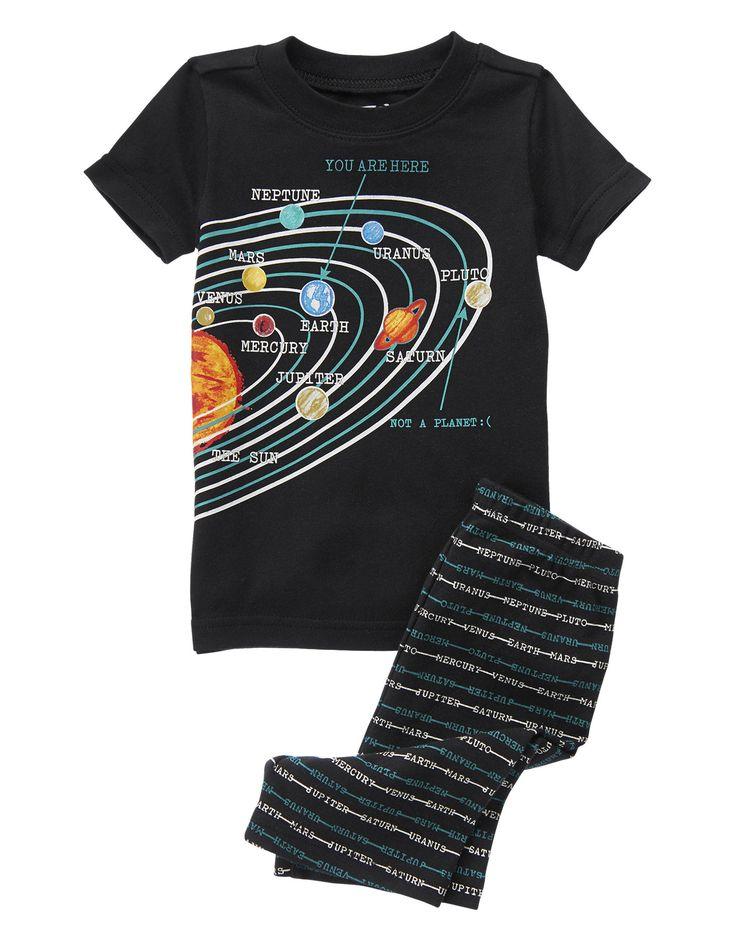 Solar System TwoPiece Shortie Pajama Set at Crazy 8
