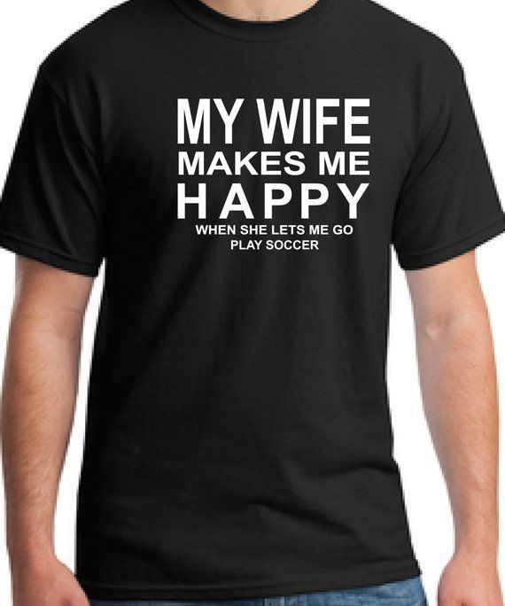 Soccer t-shirt for husband-Wife gift t-shirt for hubby-Valentines gift husband -…