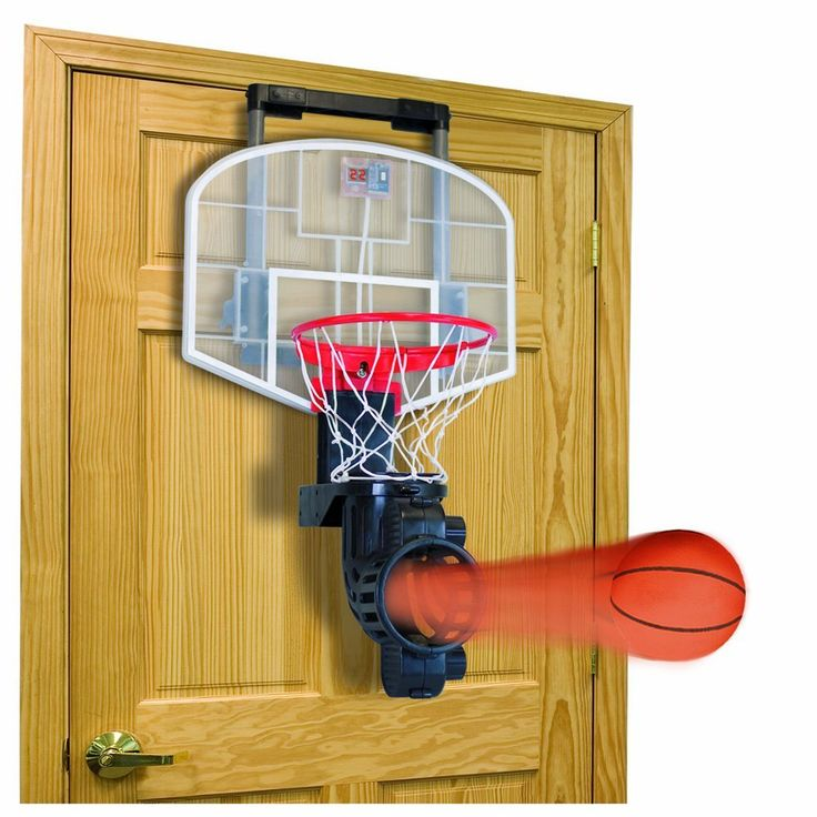 Marvelous Franklin Sports Shoot Again Basketball Is An Over The Door Basketball Board  And Hoop With Authentic Announcer Sounds, Electronic Scoring, Time Clock  And An ...