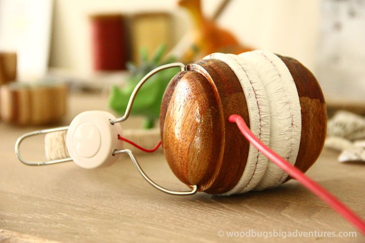 Change a dull headphone into a nice DIY woodturning project. Click for the entire project at www.woodbugsbigadventures.com