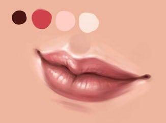 как нарисовать губы в sai шаг 6