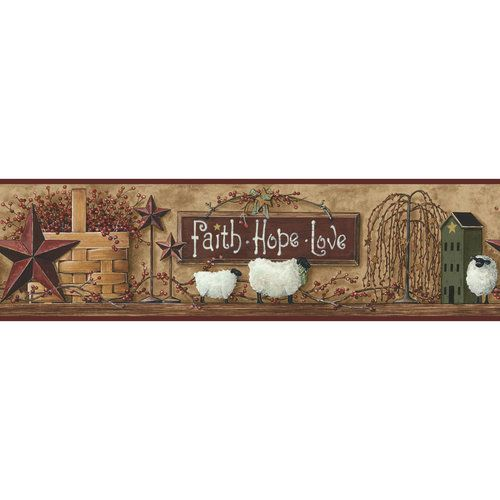 Better Homes and Gardens Faith-Hope-Love Border (maybe) $7.97