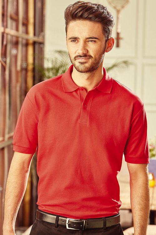 Tricou polo de bărbați Blended Fabric Russell din 65% poliester și 35% bumbac ringspun pique #personalizare #tricouri #polo #barbati #russell